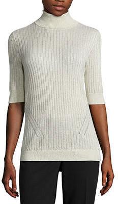 LIZ CLAIBORNE Liz Claiborne Elbow Sleeve Turtleneck Pullover Sweater-Talls $27.99 thestylecure.com