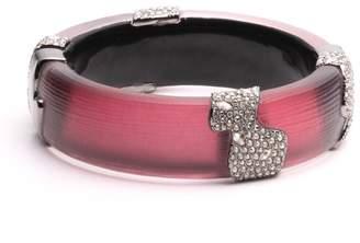 Alexis Bittar Crystal Encrusted Asymmetrical Inlay Hinge Bracelet