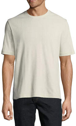 Claiborne Short Sleeve Crew Drop Needle Shirt