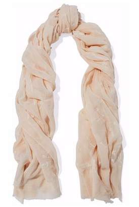 Rag & Bone Embroidered Cotton-Gauze Scarf