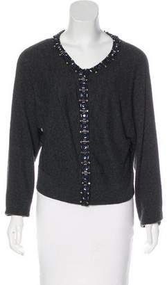 Magaschoni Embellished Knit Cardigan