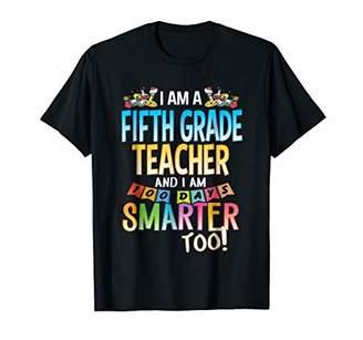 100th Day of School Fifth Grade Teacher Tshirt 100 Days