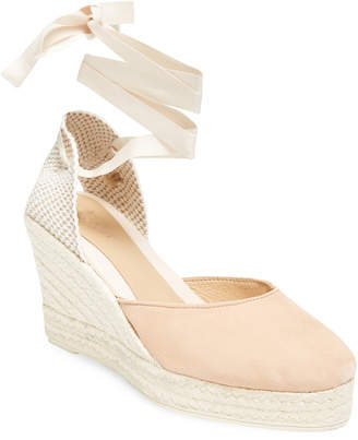Manebi Leather Wedge Sandal
