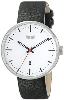 """Vestal Men's ROS3L008 """"Roosevelt"""" Stainless Steel Watch with Black Leather Band"""