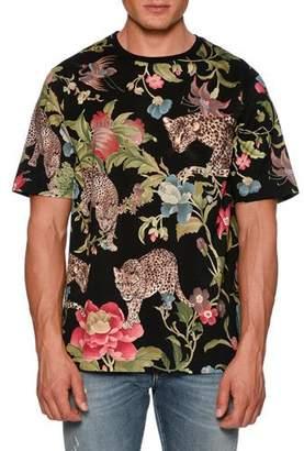 Dolce & Gabbana Floral Leopard-Print T-Shirt