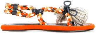 Carven woven tassel sandals