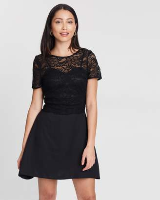 Missguided Cami Lace Top Mini Dress