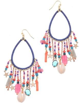 Nakamol Design Stone & Star Charm Earrings