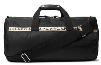 A.P.C. Webbing-Trimmed Nylon Duffle Bag - Black