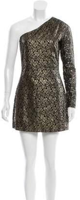 Halston One-Shoulder Lace Dress