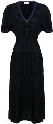 Sonia Rykiel Plumetis cinched waist dress
