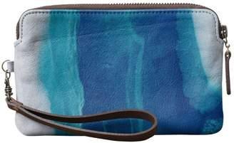 True Blue Vida Leather Clutch