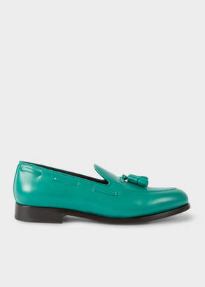 Paul Smith Men's Teal Leather 'Simmons' Tasseled Loafers