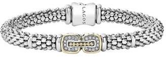 Women's Lagos 'Cushion' Diamond Caviar Bracelet $795 thestylecure.com