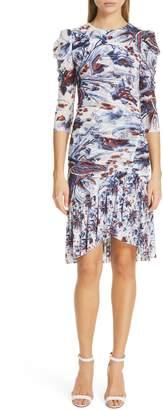 Diane von Furstenberg Lila Floral Print Dress