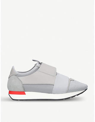 Balenciaga Race Runners leather and mesh trainers