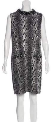 MICHAEL Michael Kors Embellished Animal Print Dress