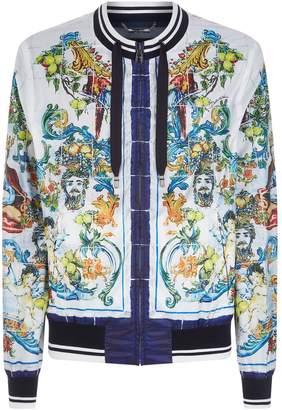 Dolce & Gabbana Majolica Bomber Jacket