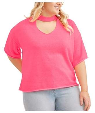 POOF Junior Plus Neon Keyhole Distressed Top