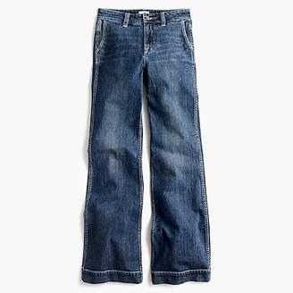 J.Crew Wide-leg trouser jean in Tahoe wash