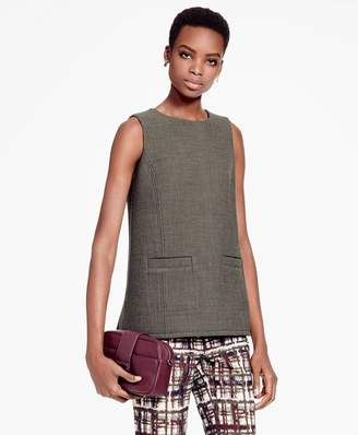 Brooks Brothers Sleeveless Wool-Blend Tunic