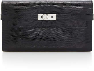 Hermes Vintage by Heritage Auctions Black Lizard Kelly Wallet