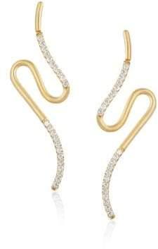 N. Carelle Brushstroke Diamond& 18K Yellow Gold N? 52 Earrings