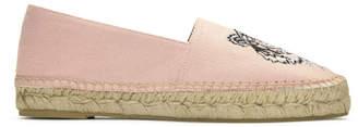Kenzo Pink Canvas Classic Tiger Espadrilles