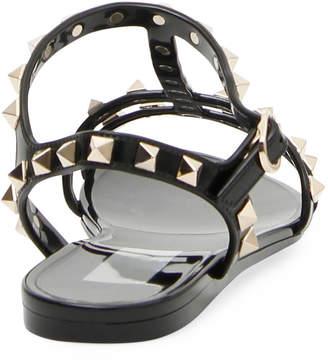 f9b30c518dcb Valentino PVC Rockstud Flat Sandals