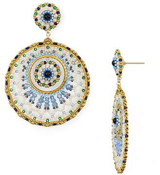 Miguel Ases Double Circle Drop Earrings