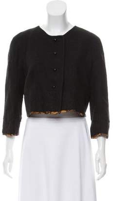 Rochas Lace-Trimmed Crop Jacket