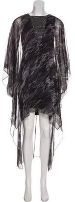 Halston Short Sleeve Maxi Dress