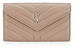 Saint Laurent Women's Large Loulou Matelassé Leather Flap Wallet