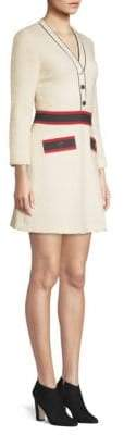 Maje Wool-Blend A-Line Dress