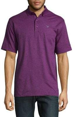 Callaway Short Sleeve Opti-Stretch Heathered Solid Polo
