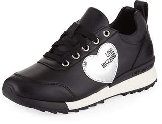 Love Moschino Power Leather Platform Sneakers