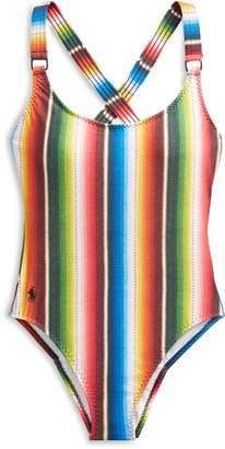 Ralph Lauren Striped One-Piece Swimsuit