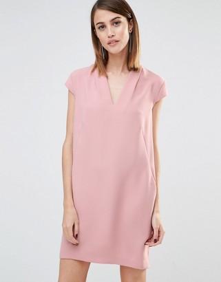 Whistles Paige V-Neck Shift Dress $194 thestylecure.com