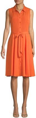 Nanette Lepore Nanette Pintucked Shirtdress