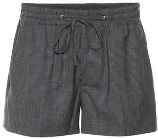 Miu Miu Plaid wool shorts
