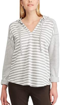 Chaps Women's Striped Hooded Tee