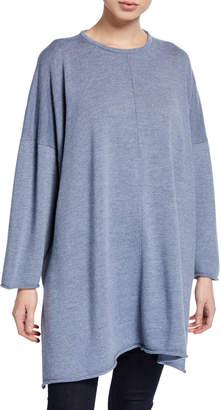 Mackinnon International K Wool Oversized Slit Sweater