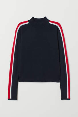 H&M Mock Turtleneck Sweater - Blue