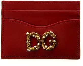 Dolce & Gabbana Red Girls Leather Credit Card Holder