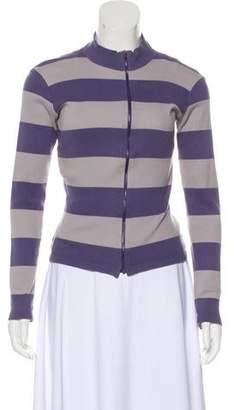 agnès b. Striped Knit Cardigan