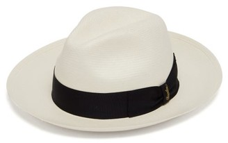 Borsalino Panama Wide Brim Straw Hat - Mens - White