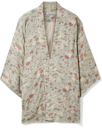 Elizabeth and James Drew Floral-print Chiffon Jacket - Green