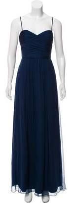 Amsale Strapless Silk Dress