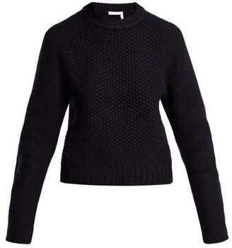 Chloé Chunky Knit Wool Blend Sweater - Womens - Navy