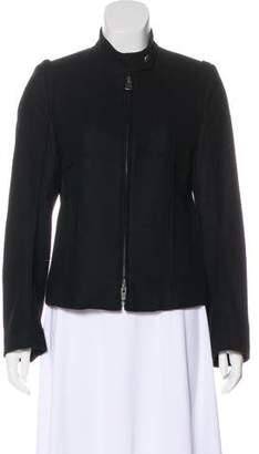 Ann Demeulemeester Black Fleece Wool Jacket
